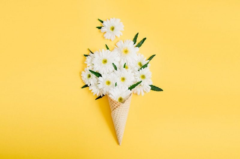 Bouquets entirely white flowers