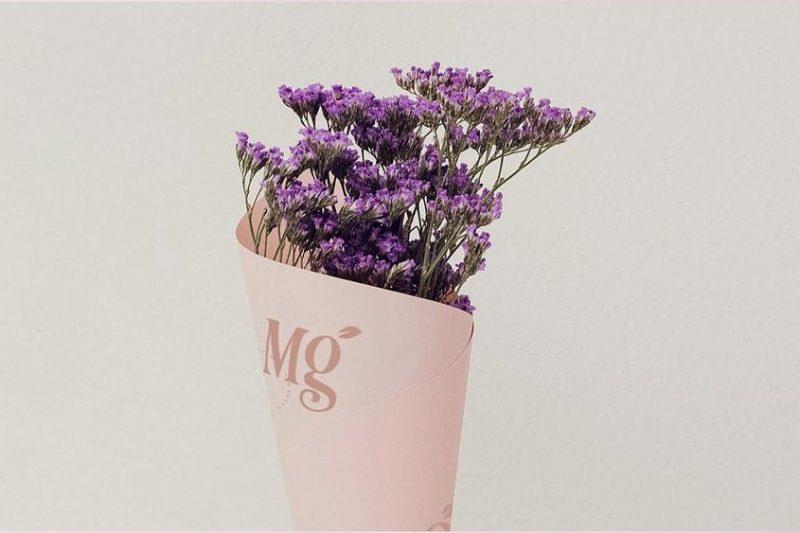 Beautiful purple flower bouquet