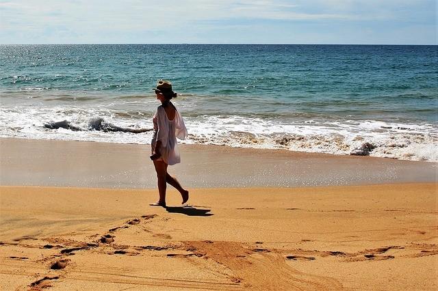 Beach sand girl